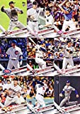 This is the 2017 Topps Traded Baseball Updates and Highlights Series complete mint hand collated 300 card set (numbered US1 to US300); it was never issued in factory form. It includes Traded Veteran Players, Rookie Cards, All Star Players and more. L...
