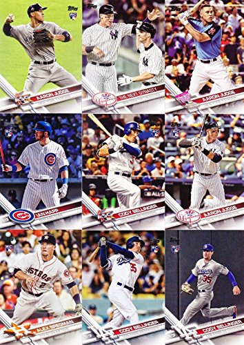 2017 Topps MLB Baseball Traded Updates and Highlights Series Complete Mint 300 Card Set LOADED with Stars and Rookie Cards Including 4 Different Aaron Judge and Cody Bellinger Rookie cards plus others