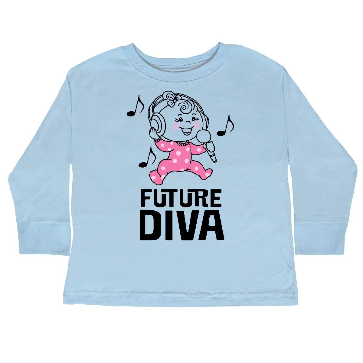 inktastic Future Diva Baby Girl Singer Toddler Long Sleeve T-Shirt