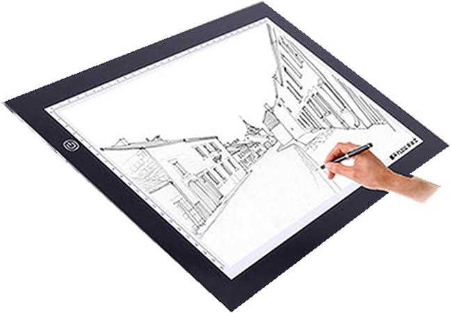LED Copy Board Sketching A4 Dibujo M.Way Super Thin LED Drawing Copy Tracing Caja de luz Track Light con brillo ajustable Tattoo Sketch Architecture Caligraf/ía manualidades para artistas