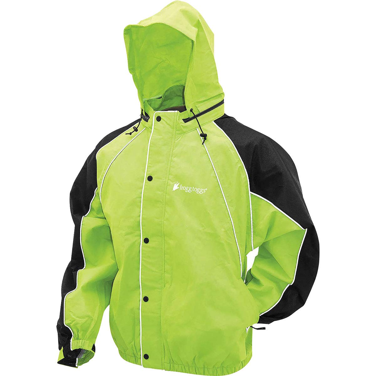 Frogg Toggs Hogg Togg Men's Street Motorcycle Rainsuit - Lime/Black/X-Large