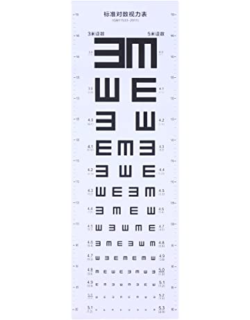 27b22366d5 ukcoco gráfico de prueba de plástico Gráfico de prueba Visiva para la  escuela doméstica (blanco