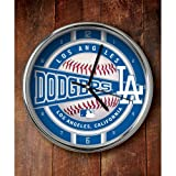 MLB Los Angeles Dodgers Official Chrome Clock, Multicolor, One Size