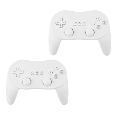 Beastron 2 Pack Controller White for Wii,classic Console Gampad Gaming Pad Joypad Pro for Nintendo Wii 2 Pack
