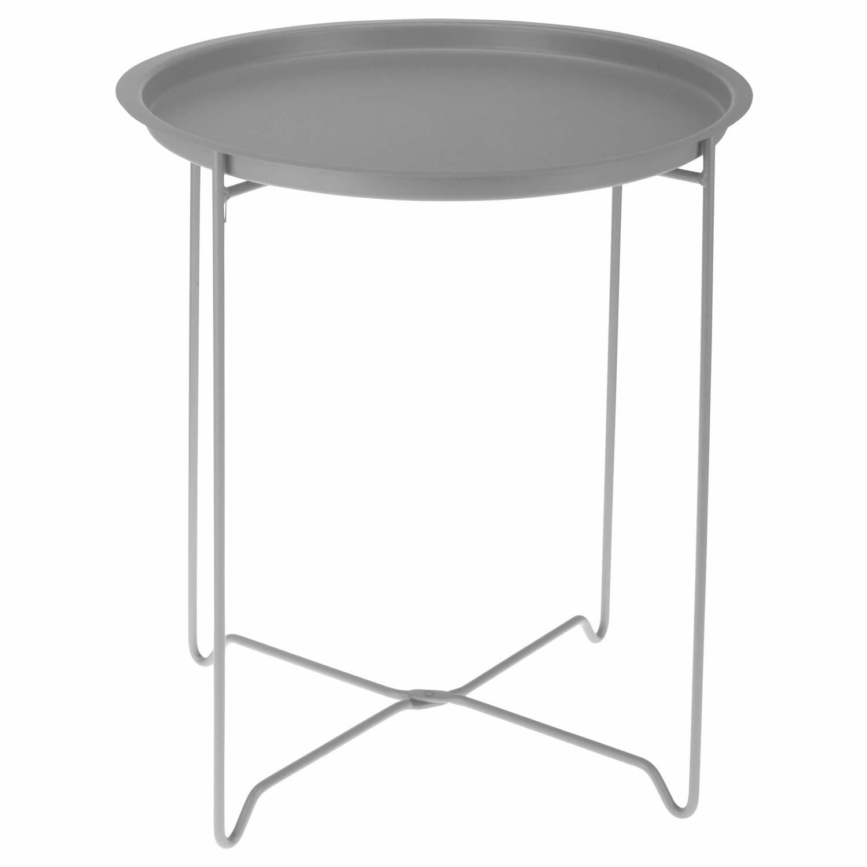 Amazonde LS Design Metall Beistelltisch Couchtisch Klapptisch Klappbar Tisch Grau
