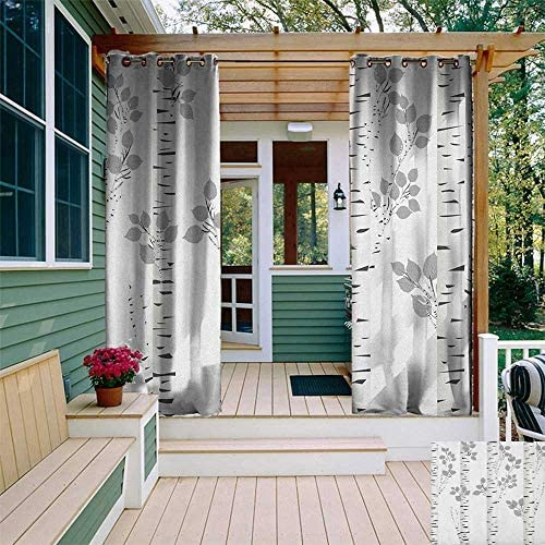 Leinuoyi - Juego de cortinas de abedul para exteriores, ramas ...