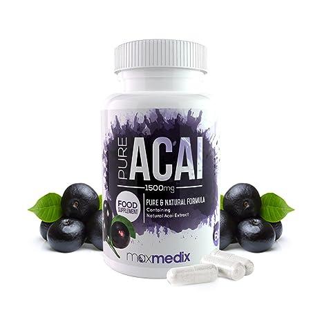 Pure Acai - Suplemento natural de Acai Berry - Mejora los niveles de energía y el
