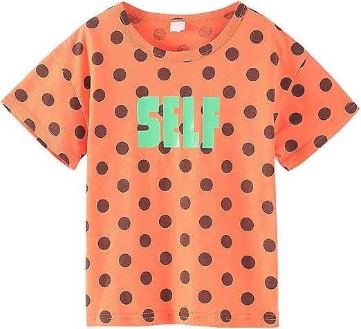 C&NN Camiseta para niña pequeña Camiseta de Manga Corta y Cuello ...