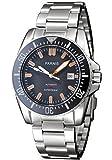 PARNIS relojes dial negro cerámica Bisel Naranja Mark GMT estilo automático mecánico p111603