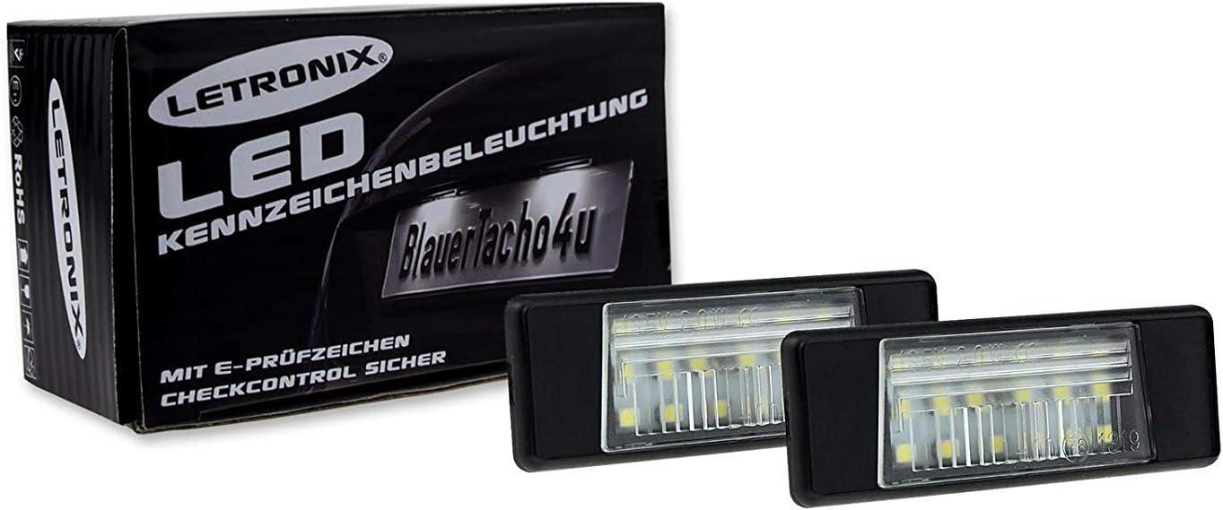 Letronix Smd Led Kennzeichenbeleuchtung Module Geeignet Für Qashqai Typ J11b Juke Tiida C12 Note E12 Pulsar C13 Nv200 Q50 Mit E Prüfzeichen Auto