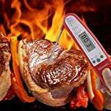 Digital-Instant-Read-Cooking-Meat-Thermometer-Collapsible-Pocket-Thermometer-with-Magnetic-Back-Long-Probe-Grilling-Thermometer-w-LCD-Screen-for-Food-Meat-Grill-BBQ-Milk-and-Bath-Water