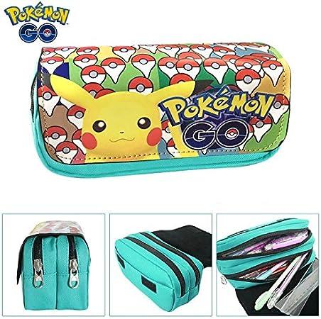Estuches Material escolar Portatodo doble Pokemon Pikachu Mint: Amazon.es: Oficina y papelería