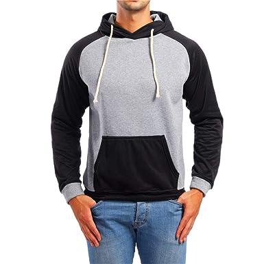 Yvelands Sudaderas con Capucha y Sudaderas de Moda, Sudaderas con Capucha para Hombre Top Camiseta Outwear Blusa Prendas de Abrigo Chaquetas y Abrigos: ...