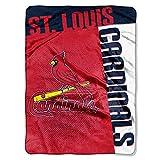 MLB St. Louis Cardinals Strike Plush Raschel Blanket, Red, 60 x 80-Inch