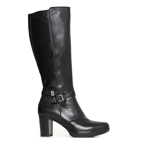 sale retailer ff46d 52db7 Nero Giardini donna stivali neri A719852D scarpe in pelle ...