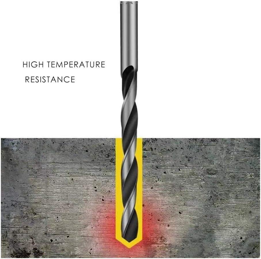 XYBW Twist Drill Bit HSS Black Oxide Tiny Micro Mini Diameter 0.2mm~20mm Hole 10 pcs for Metal Wood PVC (Color : 7.9mm) 2.4mm