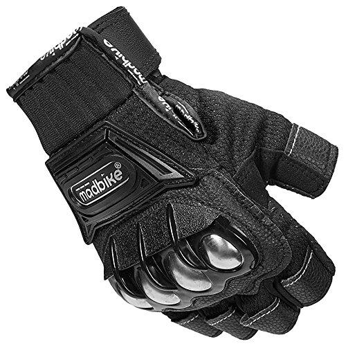ILM Alloy Steel Bicycle Motorcycle Motorbike Powersports Racing Gloves (XL, HF-BLACK) by ILM (Image #4)