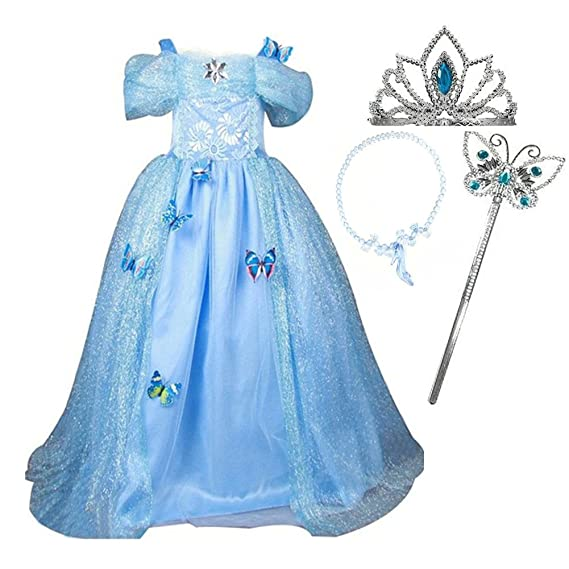 Relibeauty robe fille princesse raiponce