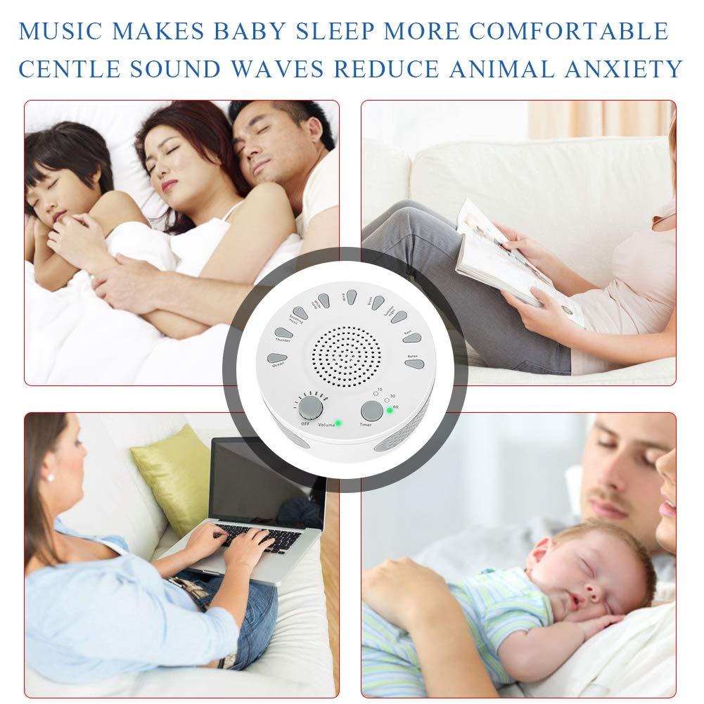 9 sons naturels apaisants aux personnes /âg/ées et aux b/éb/és qui dorment r/éducteur de bruit Bo/îte /à musique blanche convient aux enfants