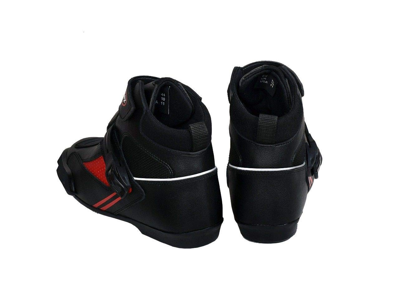 Max5 Touring Bike Road Racing Sports Motorbike Boots New Shorts Motorcycle Shoes Red, 11 UK