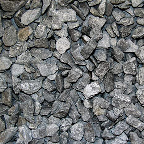 Pizarra gravilla Canadian Slate Negro 30 - 60 mm 600 kg ...
