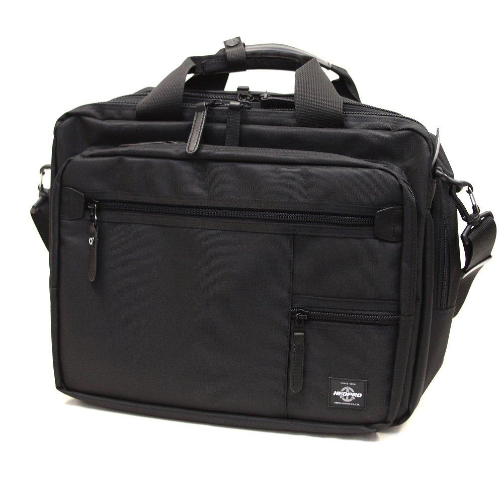ビジネスバッグ メンズ 通勤 2Way 人気 ブリーフバッグ ショルダーバッグ NEOPRO ZIP SERIES(ネオプロ)2-055 B01CU1D1AM  ブラック