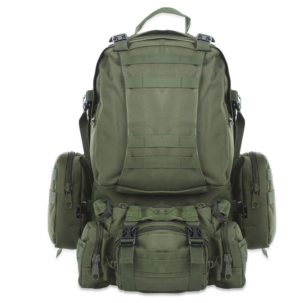KEXKL 50L Outdoor Backpack Military Tactical Backpack Rucksack Sports Bag Waterproof Camping Hiking Backpack For Travel
