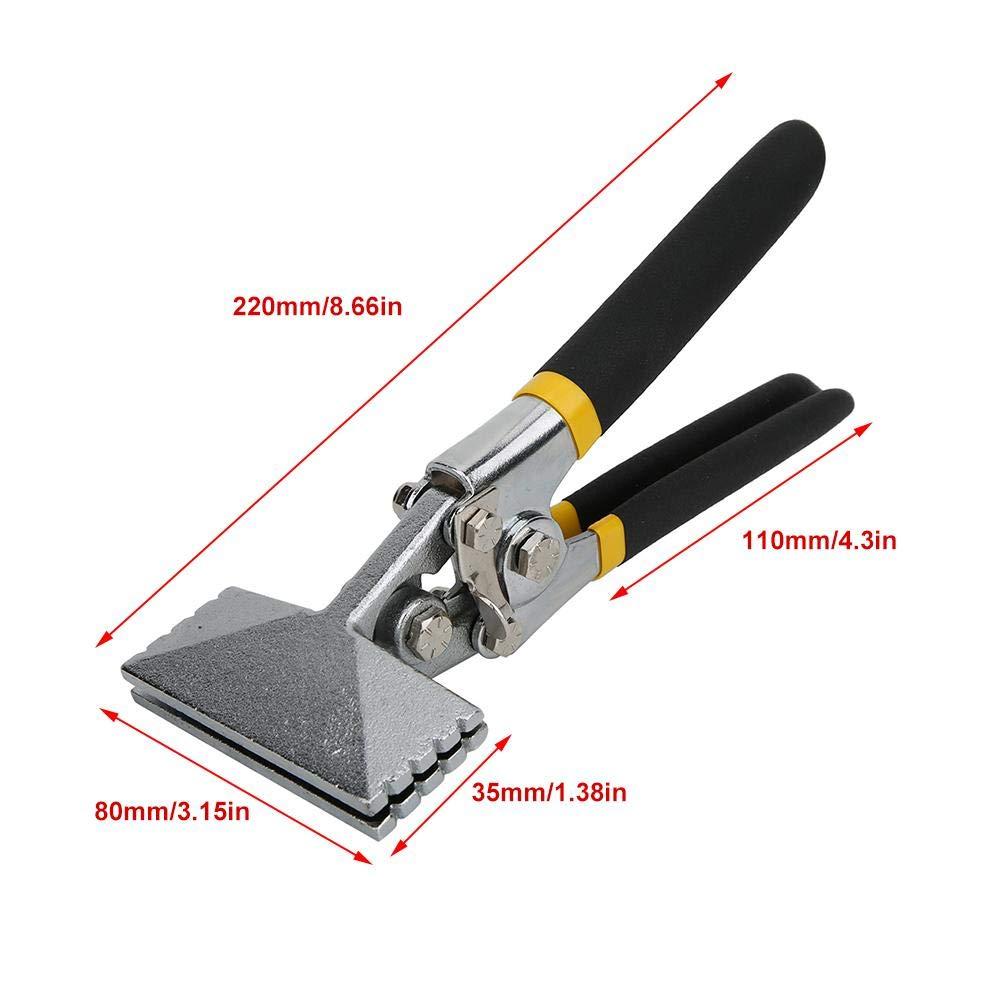 Straight zum Abflachen der Biegezange Biegezange Handklemme aus Blechstahl mit rutschfestem Griff