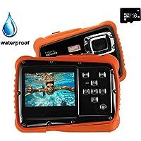 Digital Camera for Kids, YTAT Waterproof Kids Digital Camera, Underwater Action Camera Dust Proof Camcorder with 16G SD card 5M CMOS for Children Boys Girls Gift Toys (black)