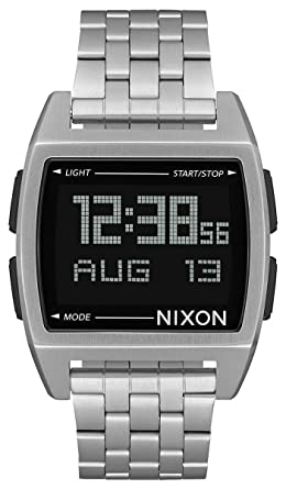 Nixon Base - Reloj (Reloj de Pulsera, Masculino, Acero Inoxidable, Plata,
