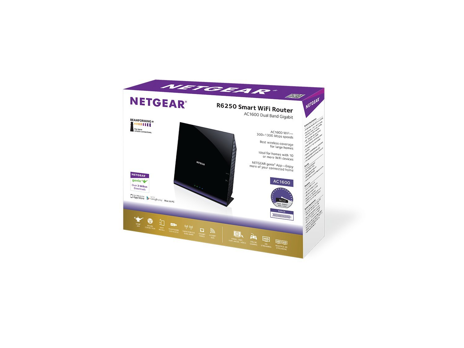 Netgear Ac1600 Dual Band Wi Fi Gigabit Router R6250 How To Extend Wireless Internet For Full Coverage In Large Homes Computers Accessories
