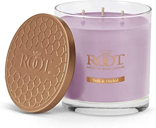 product image for Root Candles 3-Wick Hive Scented Beeswax Blend Candle, 12-Ounce, Teak & Orchid