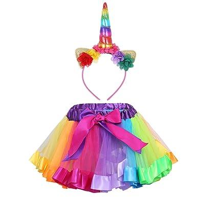 Agoky - Falda - para niña Colorido 4-5 Años: Amazon.es: Ropa y ...