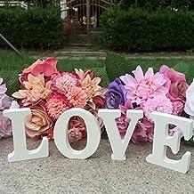 Freestanding Wooden White Letters LOVE