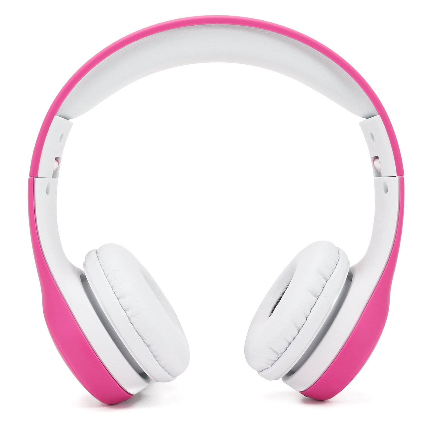 Soblue Kids Headphones, On-Ear Headsets Volume Limited, Adjustable Headband, Durable and Removable Nylon 3.5mm Audio Jack Cable, Designed for Children Ages of 3-12 (Pink)