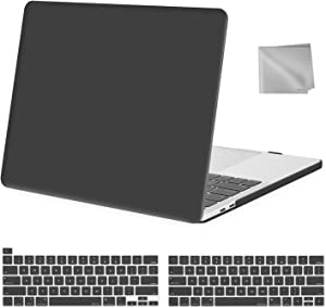 MOSISO MacBook Pro 13 inch Case 2020 2019 2018 2017 2016 Release A2289 A2251 A2159 A1989 A1706 A1708, Plastic Hard Shell&Keyboard Cover&Wipe Cloth Compatible with MacBook Pro 13 inch, Space Gray