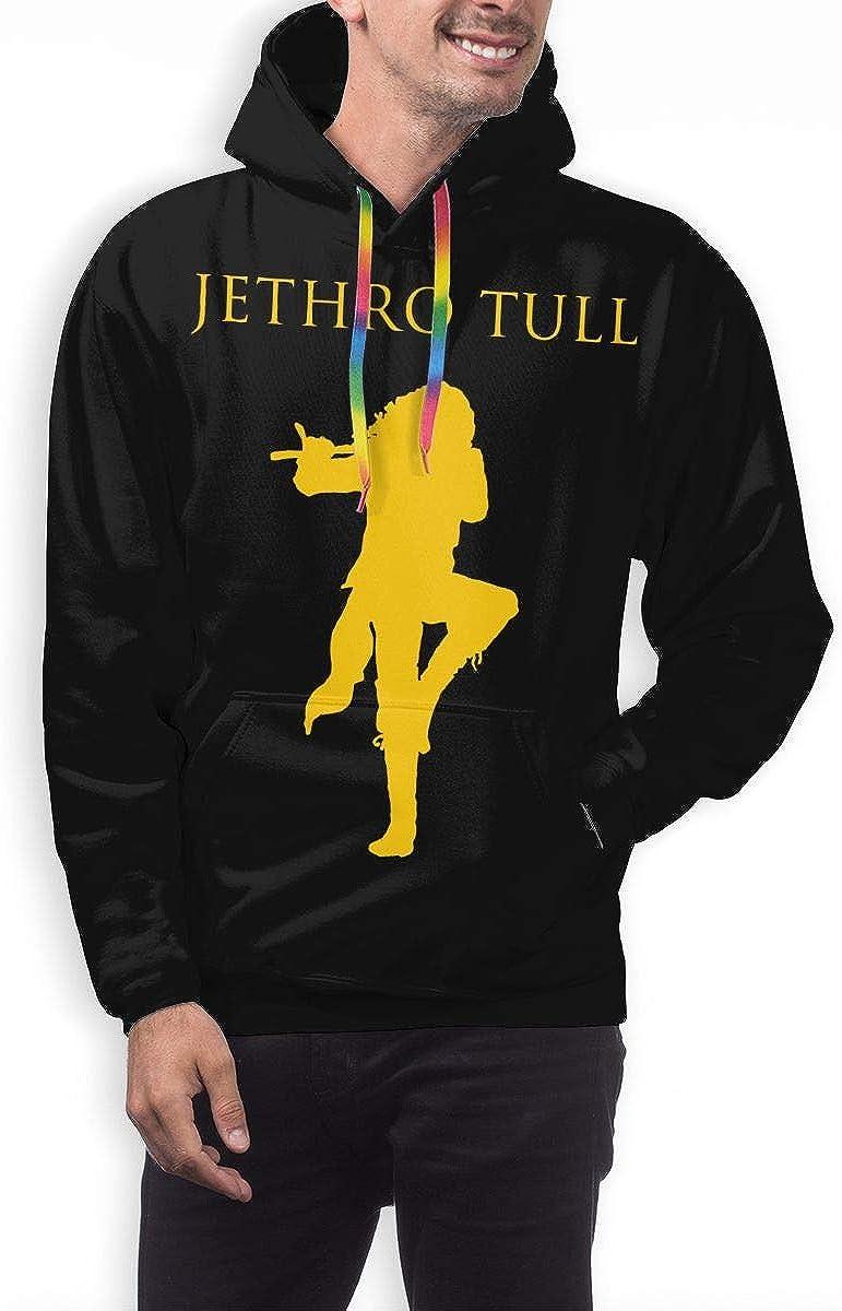 NATHANDAVISON Jethro Tull Breathable 3D Printed Hip Hop Pullover Mans Hooded Sweatshirt