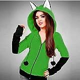 Fox Ears Hooded Sweatshirts Women Long Sleeve