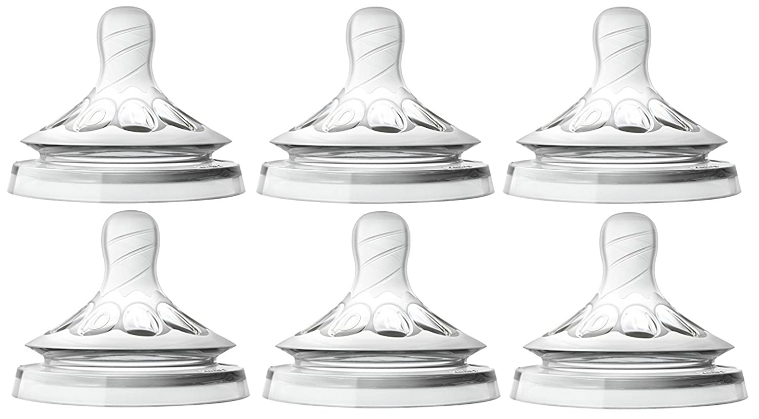 Philips Avent Natural Nipple First Flow - 6 Pack