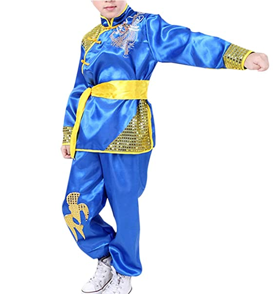 b3383b245947c Amazon.com: Kung Fu Boys Girls Embroidery Tai Chi Outfits: Clothing