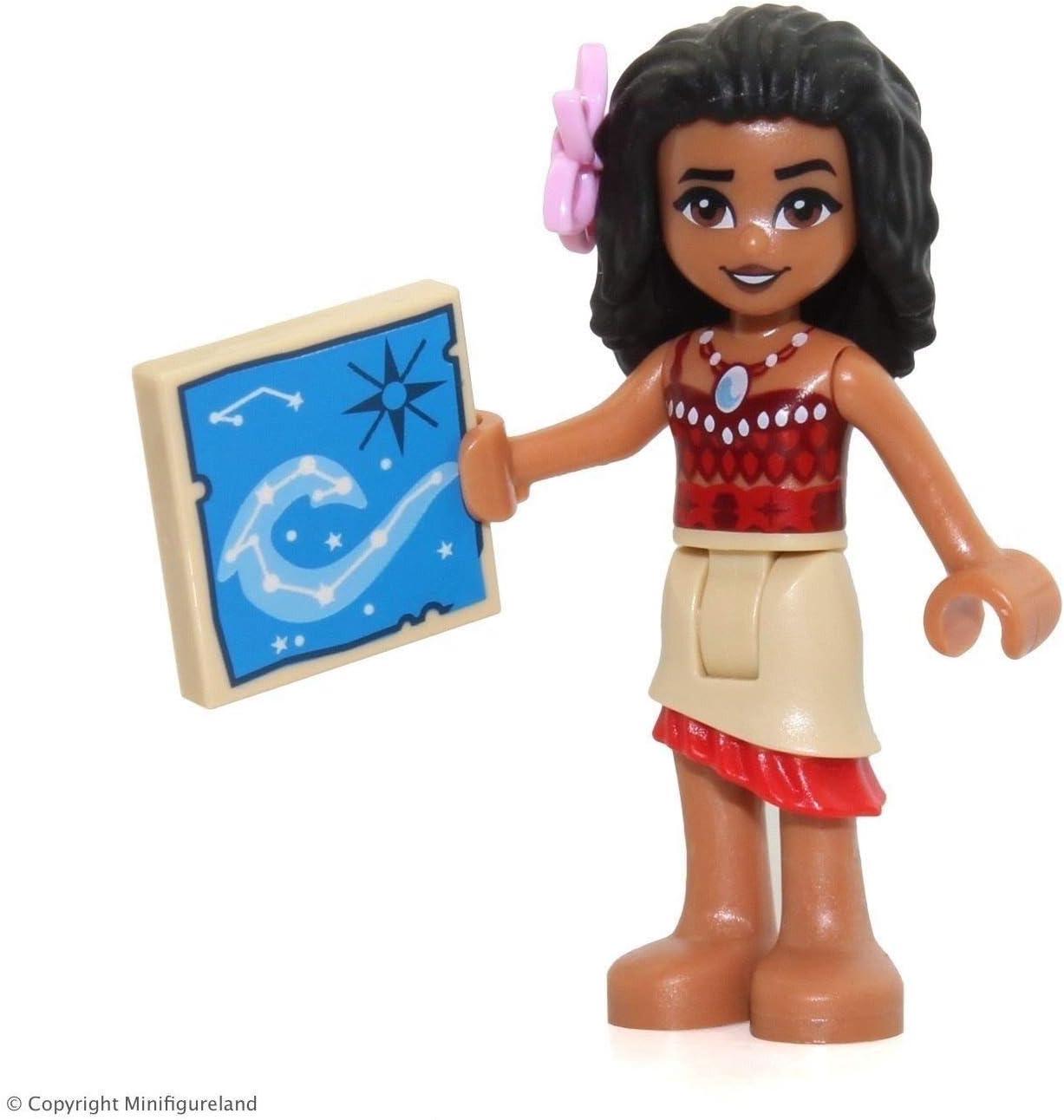 LEGO Disney: Moana Minifigure - Moana (Tan Skirt, Bright Pink Flower) 41150
