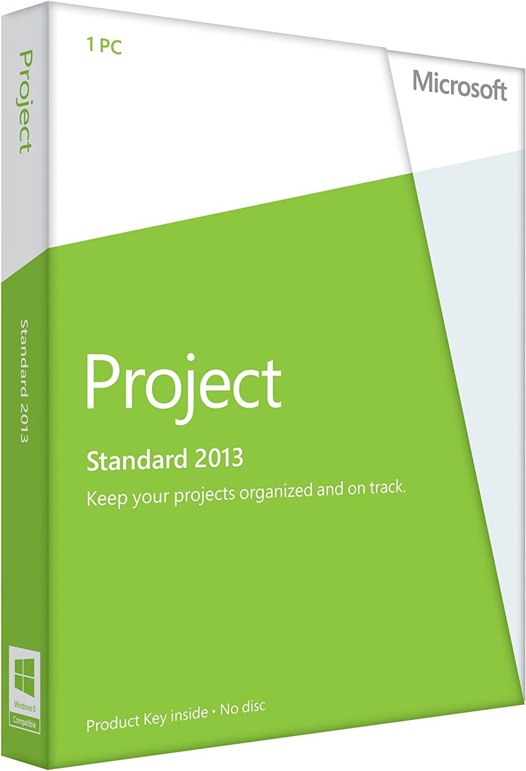amazoncom microsoft project 2013 key card no disc software