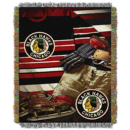 The Northwest Company Officially Licensed NHL Chicago Blackhawks Vintage Woven Tapestry Throw Blanket, 48