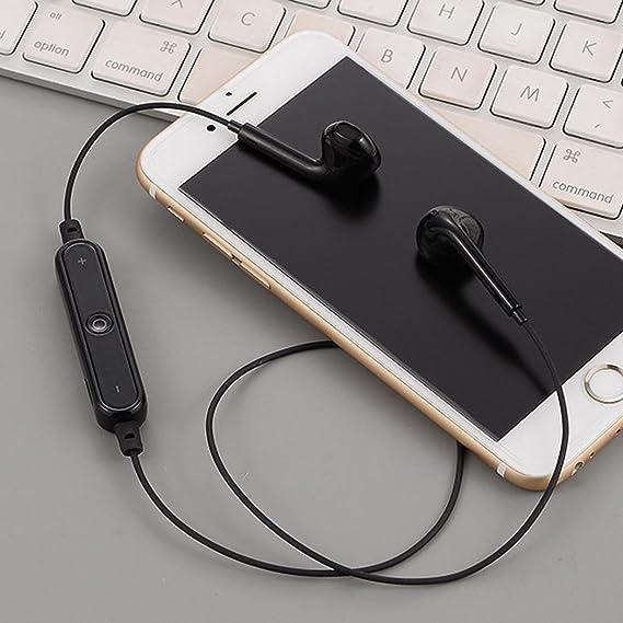 Oplon Auriculares estéreo inalámbricos Bluetooth In-Ear Deportes Correr Gym Neckband Auriculares con micrófono Auriculares: Amazon.es: Electrónica