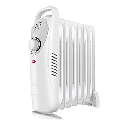 c8c5b6395cf fam famgizmo Small Oil Filled Radiator Portable Electric Heater with  Thermostat - Overheat Protection - Thermal