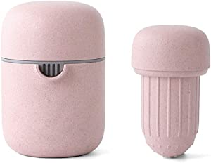 AILY Juicer Machines, Slow Masticating Juicer Extractor Two Speed Adjustment, Easy to Clean, Cold Press Juicer for Vegetables and Fruits, BPA-Free,Pink