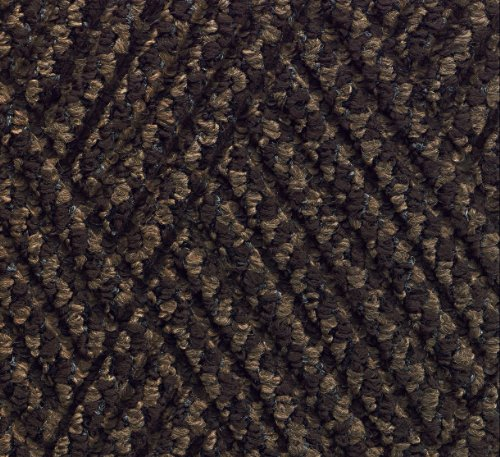 - M+A Matting 296 Waterhog DiamondCord Polypropylene Fiber Interior/Scraper Wiper Floor Mat, SBR Rubber Backing, 10' Length x 3' Width, 3/8