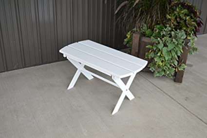Yellow Pine Unfinished Outdoor Folding Coffee Table Amish Made In The USA