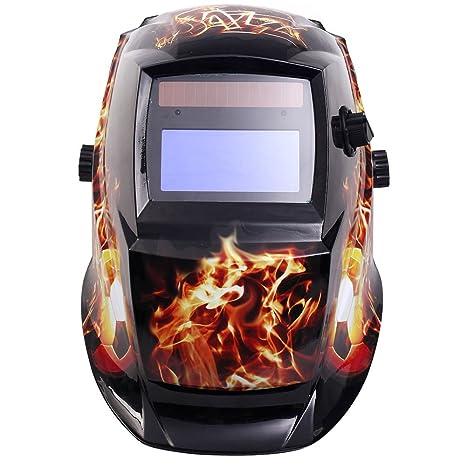 Tomtop Solar Profesional Soldador Soldar Máscara oscurecimiento automático casco ARC TIG MIG de molienda herramienta de
