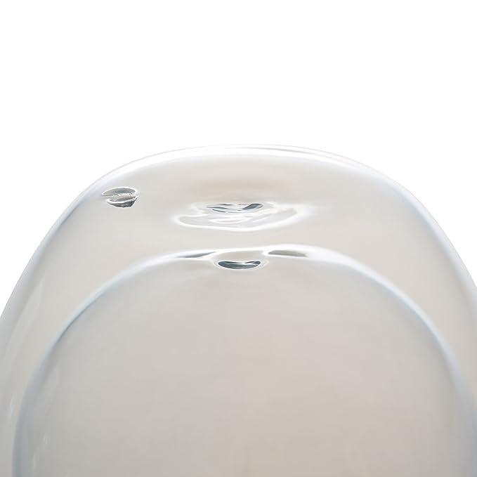 Levivo Vaso térmico Jumbo de doble pared de 410 ml, ideal como vaso para el café o el té, vidrios térmicos soplados artesanalmente, resistente al calor, ...